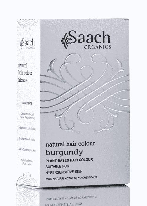 Burgundy Natural Hair Colour by Saach Organics