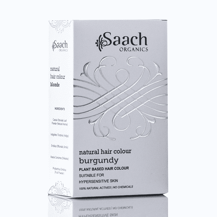 Burgundy Natural Hair Colour by Saach Organics