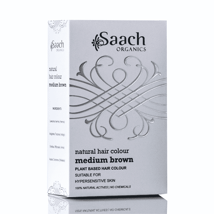 Medium Brown Natural Hair Colour by Saach Organics